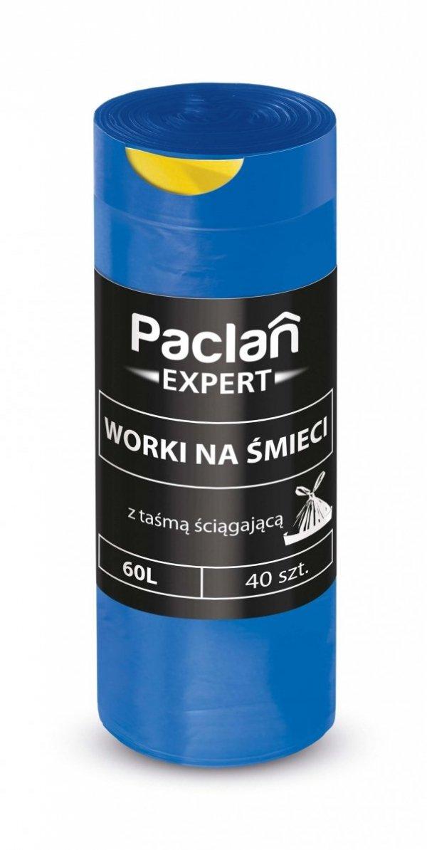 Worki na smieci EXPERT Z TASMA 60L 40 szt. PACLAN