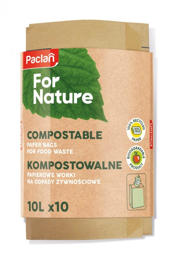 WORKI PAPIEROWE 10 L 10szt. Paclan For Nature