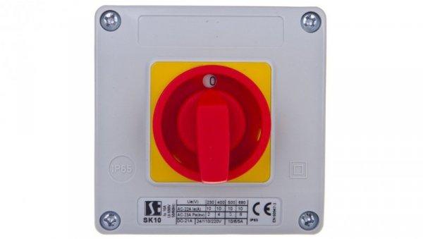 Łącznik krzywkowy 0-1 1P 10A w obudowie SK10-3.8220OB11ZC
