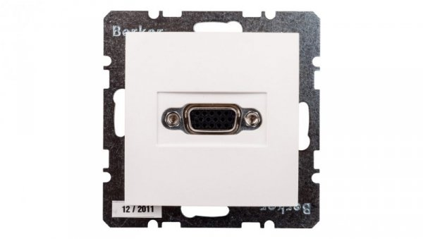 Berker/B.Kwadrat Gniazdo VGA z zaciskami śrubowymi śnieżnobiałe 3315418989