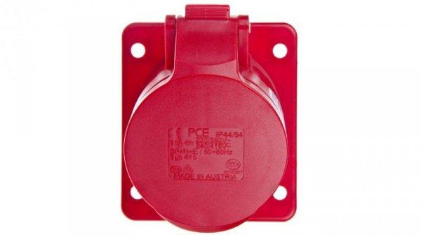 Gniazdo tablicowe skośne 16A 5P 400V /80x97/ czerwone IP44 415-6F87