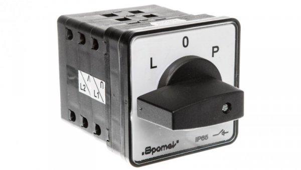 Łącznik krzywkowy L-0-P 100A mocowany do pulpitu pokrętło czarne SK100-3.8368P03