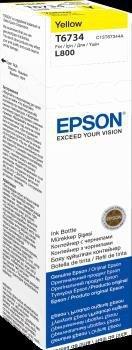 Atrament yellow w butelce 70 ml (T6734) do Epson L800/L850/L800/L850