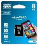 GOODRAM microSD 8GB C4 1-adapter