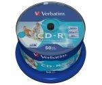 Verbatim CD-R 52x 700MB 50P CB Printable   43438