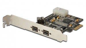 Digitus Karta/Kontroler Firewire (800) PCI Exp., 2xZew. 1xWew. IEEE1394b 9pin,Low Profile, Chipset: XIO2213B