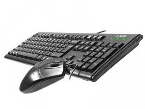 A4 Tech Zestaw klawiatura + mysz KM-72620D USB Czarny