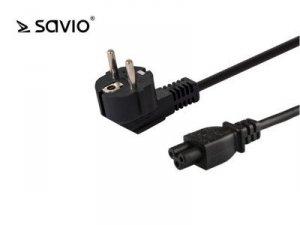 Elmak Przewód zasilający do laptopa koniczynka SAVIO CL-67 1.2m, 3pin