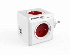 Allocacoc Rozgałęziacz PowerCube Original USB 2202RD/FROUPC Czerwony