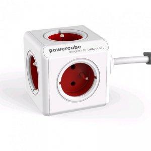 Allocacoc Listwa zasilająca PowerCube Extended 3m 2304/FREXPC Czerwona