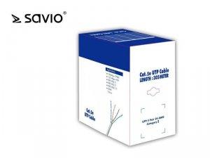 Elmak Kabel sieciowy SAVIO CLA-05 LAN Kat.5e UTP 305m