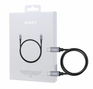 AUKEY CB-CD5 ultraszybki nylonowy kabel Quick Charge USB C - USB C 1m