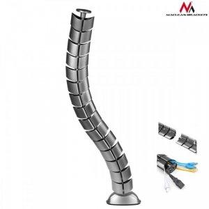 Maclean Organizator maskownica kabli do biurka MC-768 S srebrna