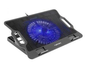 NATEC Podstawka chłodząca pod notebook Dipper podświetlenie, 2xUSB