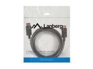 LANBERG Kabel DisplayPort M/M 4K 3M czarny