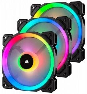 Corsair Fan LL120 RGB LED PWM 3 Fun Pack                        Dual Light Loop RGB LED PWN Fan - 3 Fan Pack with Lighting Node