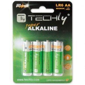 Techly Baterie alkaliczne LR06 AA 4szt, (IBT-LR06T4B)