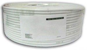 Techly Kabel instalacyjny skrętka U/UTP Cat6 4x2 linka CCA 100m szary