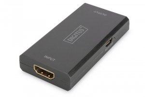 Digitus Wzmacniacz sygnału/Repeater HDMI do 30m, 4K 60Hz UHD 3D, HDCP 2.2