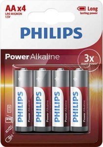 Philips Baterie Power Alkaline AA 4szt. blister