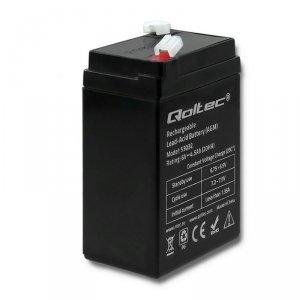 Qoltec Akumulator AGM | 6V | 4.5Ah | max.1.35A