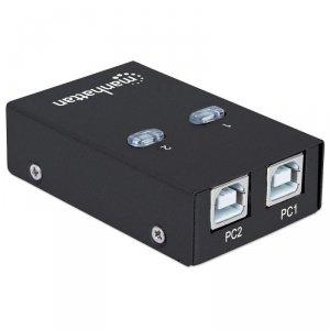 Manhattan Przełącznik automatyczny Hi-Speed USB 2.0 2 PC - 1 USB