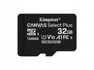 Kingston Karta pamięci microSD 32GB Canvas Select Plus 100MB/s