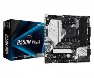 ASRock Płyta główna B550M Pro4 AM4 4DDR4 HDMI/DP/D-SUB M.2 mATX