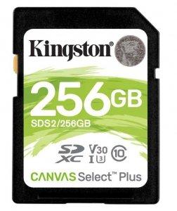 Kingston Karta pamięci SD 256GB Canvas Select Plus R100MB/s