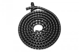 Digitus Maskownica organizer do okablowania (kręgosłup) rogulowana elastyczna 5m czarna