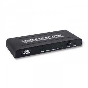 Qoltec Aktywny rozdzielacz Splitter HDMI 1x4   v.2.0