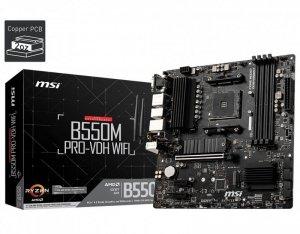MSI Płyta główna B550M PRO-VDH AM4 4DDR4 HDMI/DP/VGA mATX