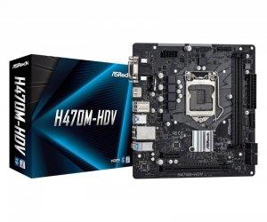 ASRock Płyta główna H470M-HDV s1200 2DDR4 HDMI/D-SUB/DVI mATX
