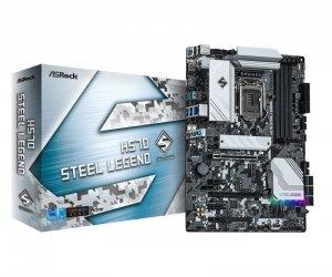 ASRock Płyta główna H570 Steel Legend s1200 4DDR4 HDMI/DP M.2 ATX