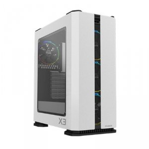 Zalman Obudowa X3 WHITE ATX Mid Tower ARGB fan x4 TG