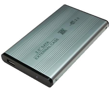 LogiLink Obudowa aluminiowa do HDD 2,5' SATA, USB, srebrna