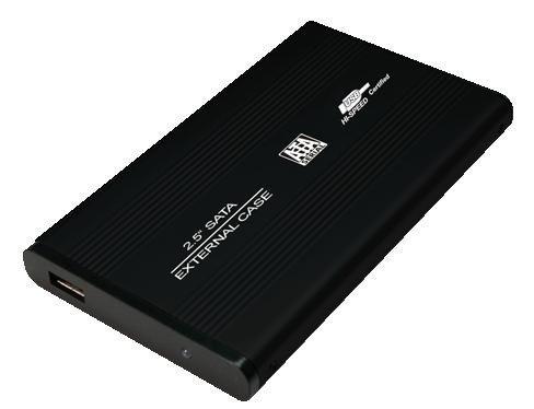 LogiLink Obudowa aluminiowa do HDD 2,5'SATA,USB,czarna