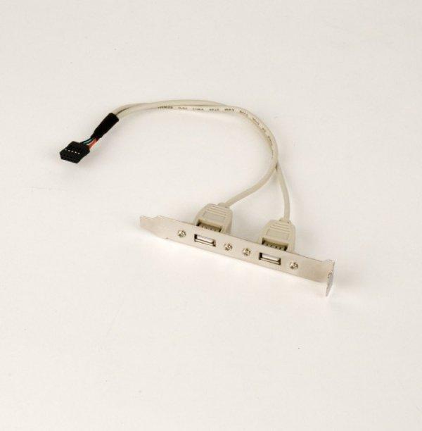 Gembird Gniazdo USB X2 na śledziu