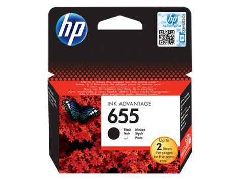 HP Inc. Tusz nr 655 Black CZ109AE
