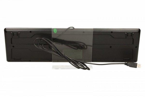 MODECOM Klawiatura przewodowa czarna 5006