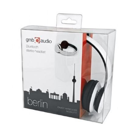Gembird Słuchawki z mikrofonem bezprzewodowe BHP-BER-BK (Bluetooth) białe