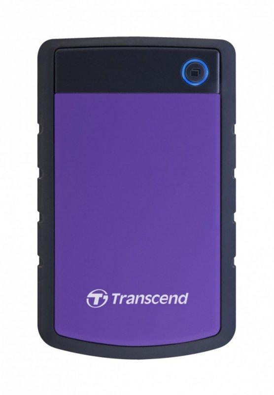 "Transcend Dysk HDD zewnętrzny 2,5"" StoreJet 25H3P 2TB USB3.0 fioletowy"