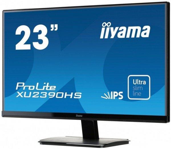 IIYAMA Monitor 23 XU2390HS-B1 IPS D-SUB/DVI/HDMI/GŁOŚNIKI ULTRA SLIM