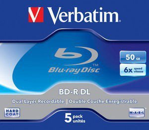 Verbatim BD-R DL  6x 5P Jewel 50 GB        43748