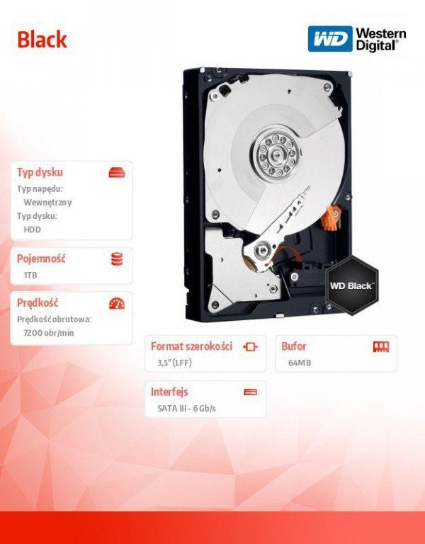 Western Digital HDD Black 1TB 3,5'' 64MB SATAIII/7200rpm