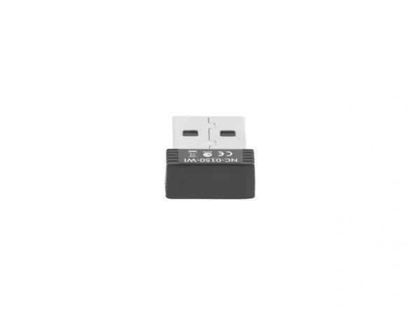 LANBERG Karta sieciowa USB NANO N150 1 wewnętrzna antena  NC-0150-WI