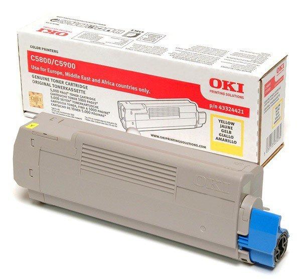 OKI Toner C5800/5900    Yellow (5k)