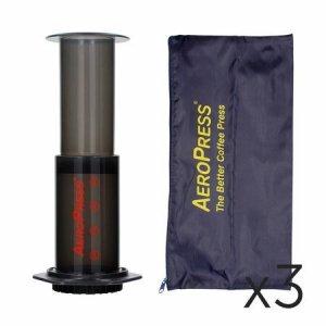 AeroPress (Zestaw z pokrowcem) - zestaw 3 sztuki