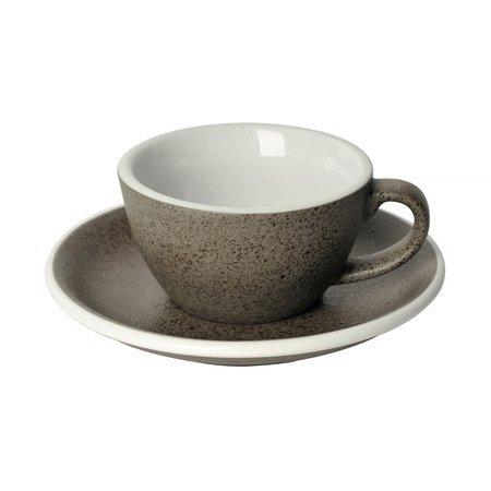 Loveramics Egg - Filiżanka i spodek Flat White 150 ml - Granite