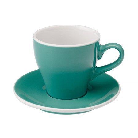 Loveramics Tulip - Filiżanka i spodek Cafe Latte 280 ml - Teal